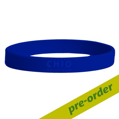 Siliconen wristband blauw