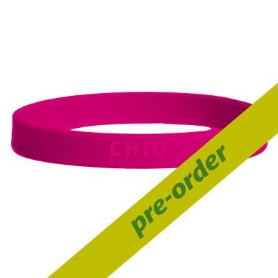 Siliconen wristband roze